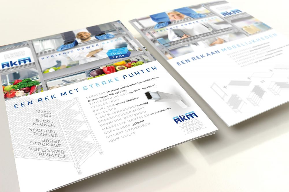 AKM - Hygienic Power Racks - Leaflets