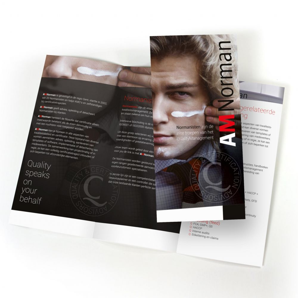AMNorman - Quality speaks on your behalf - Brochure & leaflets