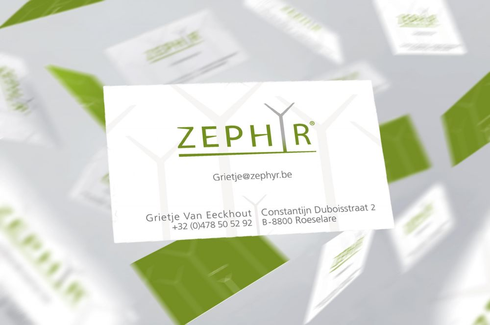 Zephyr - Wind turbines - Business cards